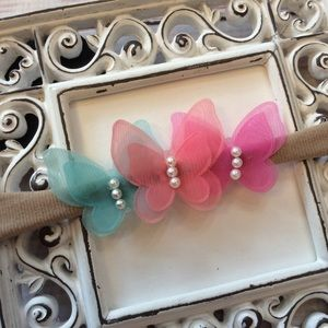 Other - Boutique Baby Girls Butterfly Headband